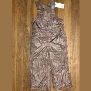 2T NWT Snow Bib Overalls Copper Girls Suit pants